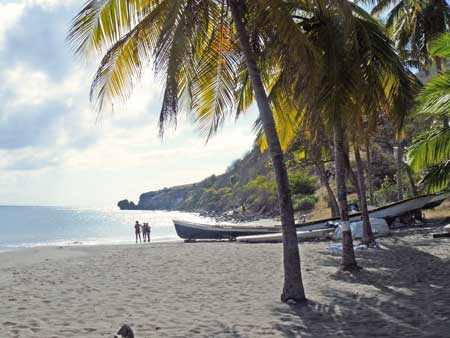 Strand von Martinique